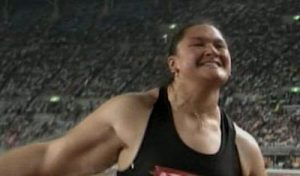The massive arm of Valerie Adams